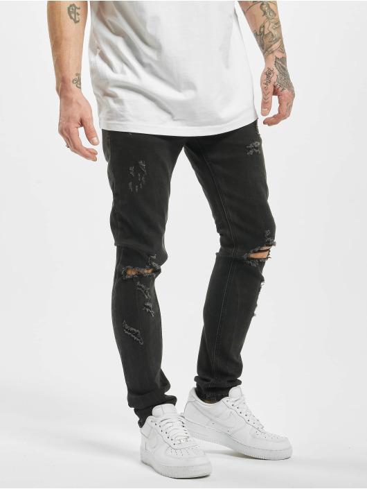 Aarhon Skinny Jeans Destroyed black