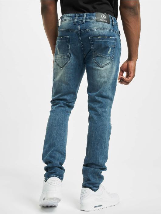 Aarhon Skinny Jeans Cuts Out blau