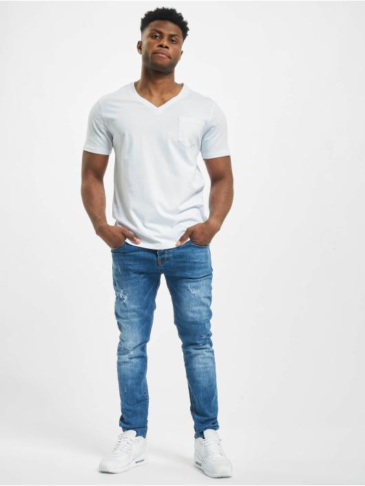 Aarhon Skinny Jeans Cutz blau