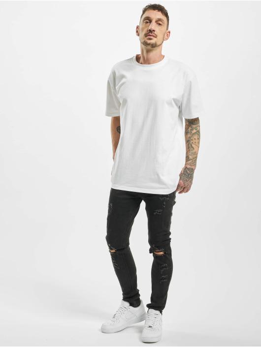 Aarhon Skinny Jeans Destroyed czarny