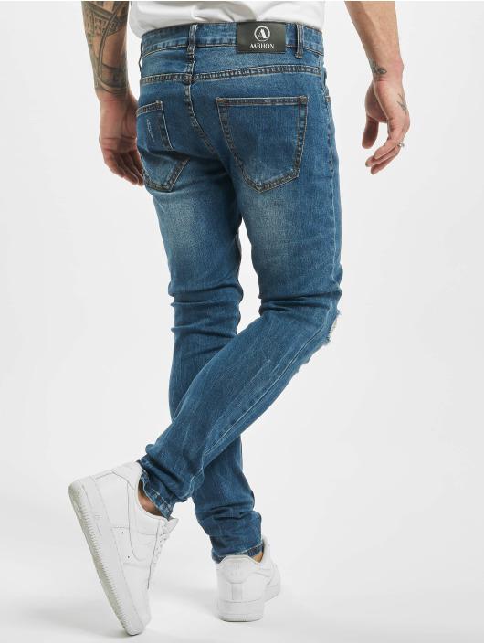 Aarhon Skinny Jeans Destroyed niebieski