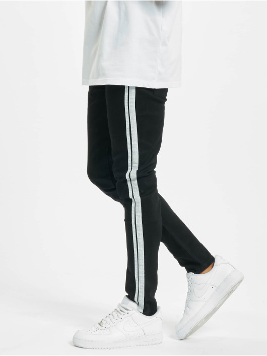 Aarhon Skinny Jeans Side Stripes sort