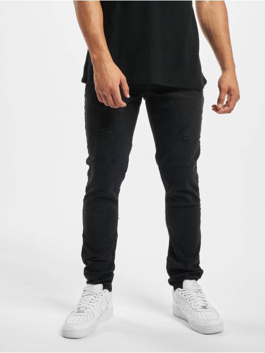 Aarhon Skinny jeans Ripped zwart