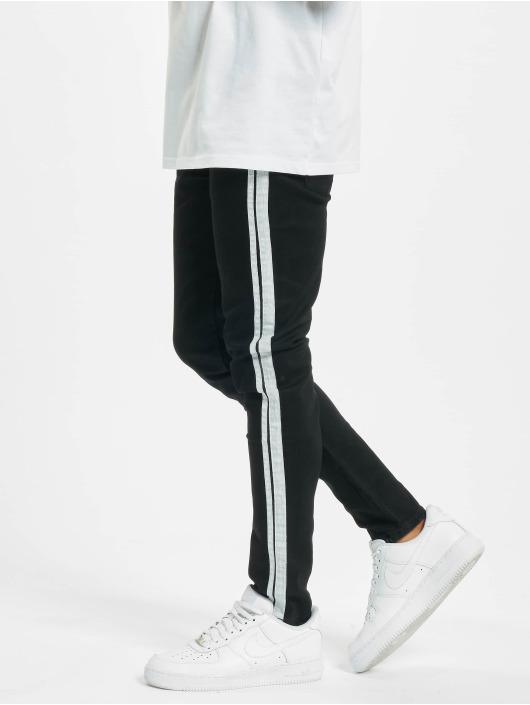 Aarhon Skinny jeans Side Stripes zwart