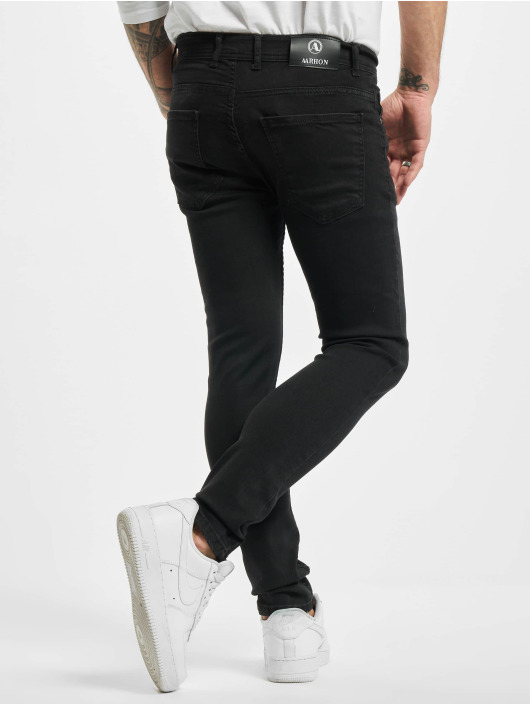 Aarhon Slim Fit Jeans Used èierna