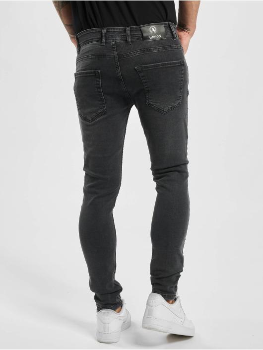 Aarhon Slim Fit Jeans Slim šedá