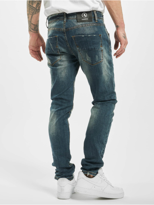 Aarhon Slim Fit Jeans Used blauw