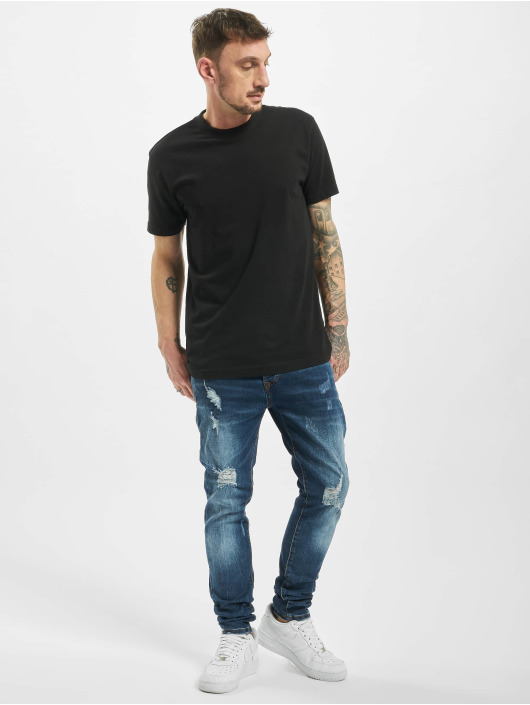 Aarhon Slim Fit Jeans Destroyed blauw