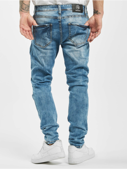 Aarhon Slim Fit Jeans Destroyed blue