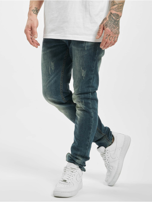 Aarhon Slim Fit Jeans Used modrá