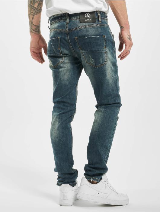 Aarhon Slim Fit Jeans Used modrá