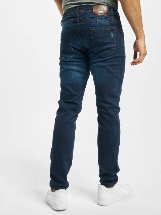 Aarhon Slim Fit Jeans Harvey modrý