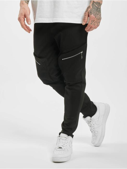 Aarhon Spodnie Chino/Cargo Big Pocket czarny