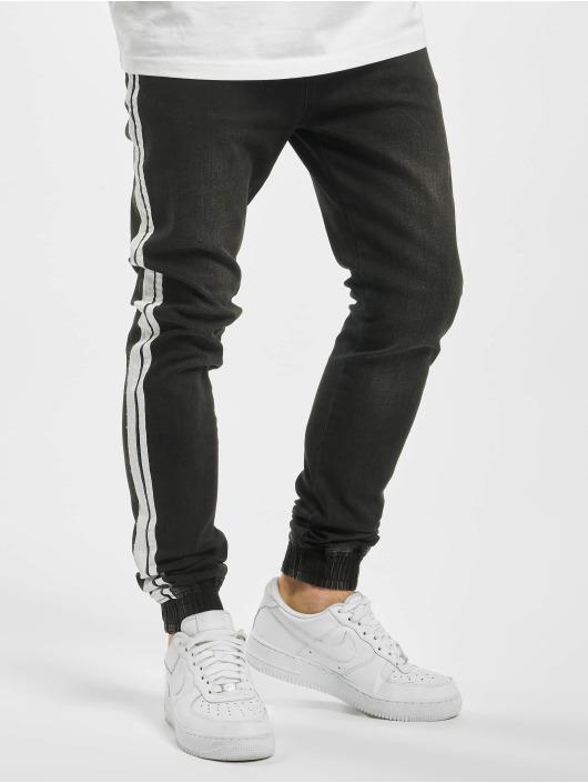 Aarhon Spodnie do joggingu Denim Look czarny