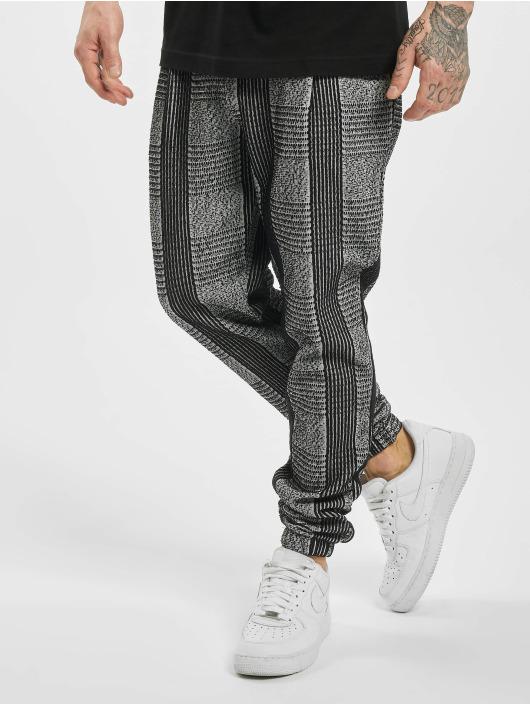 Aarhon Spodnie do joggingu Checkered szary