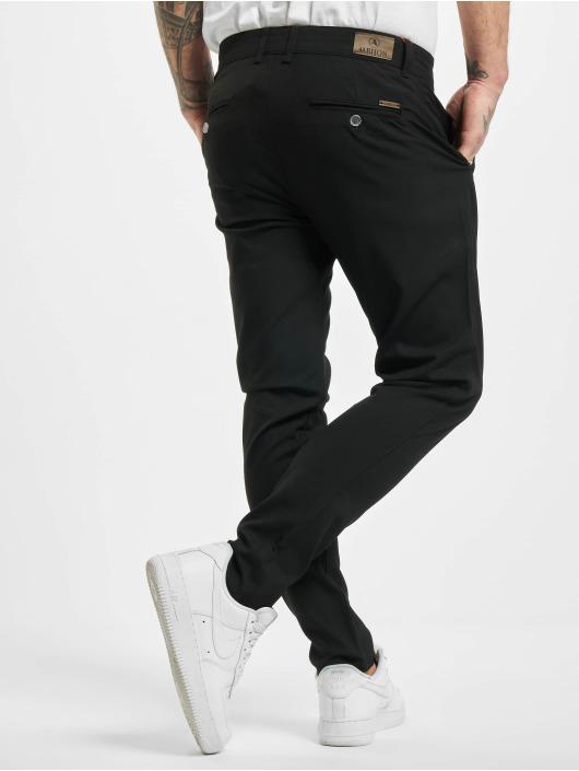 Aarhon Spodnie wizytowe Slim czarny