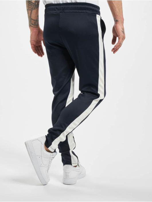 Aarhon Spodnie wizytowe Contrast niebieski