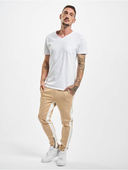 Aarhon Stoffbukser Contrast beige