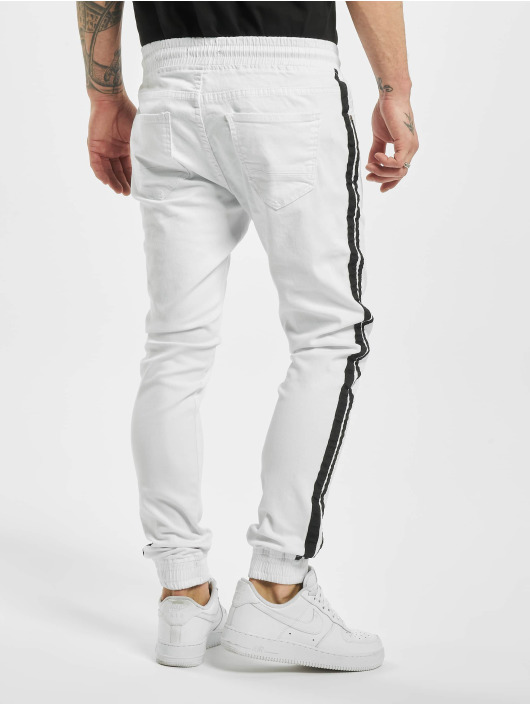 Aarhon Sweat Pant Denim Look white