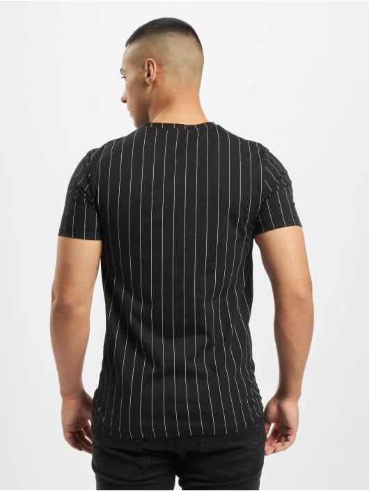 Aarhon T-paidat Pinstripe musta