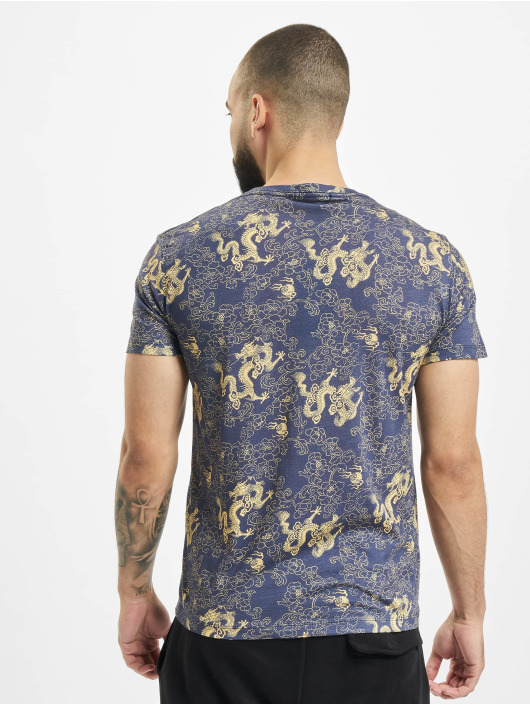 Aarhon T-Shirt Allover blau