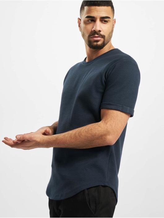 Aarhon t-shirt Structure blauw