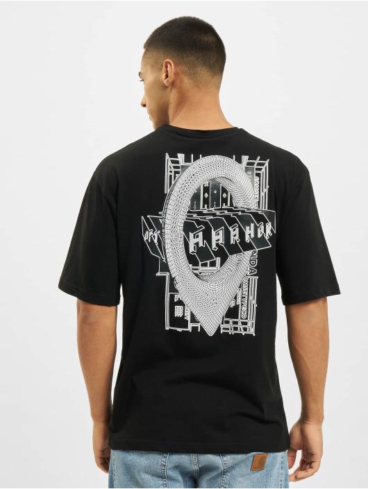 Aarhon T-shirt Logo nero