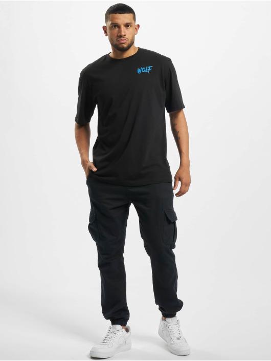 Aarhon T-Shirt Wolf schwarz