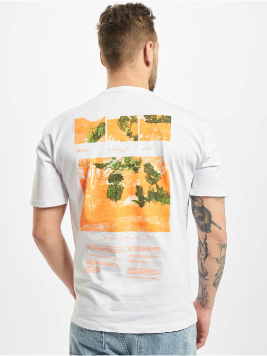 Aarhon T-Shirt Rotate weiß