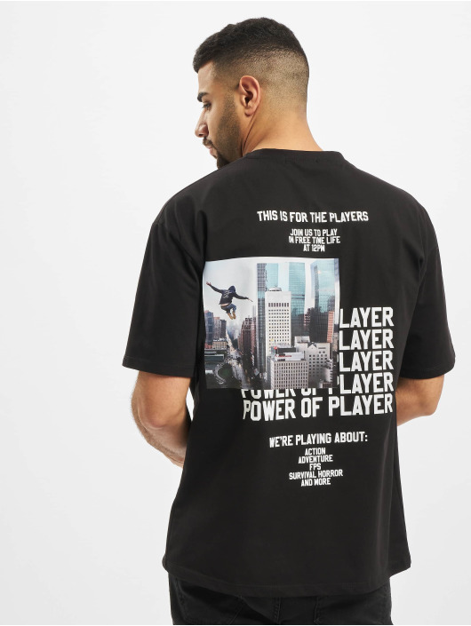 Aarhon t-shirt Players zwart