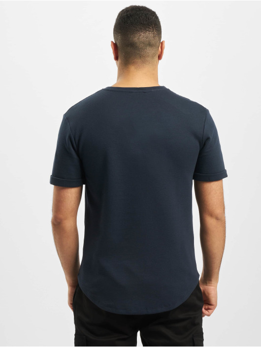 Aarhon T-Shirty Structure niebieski