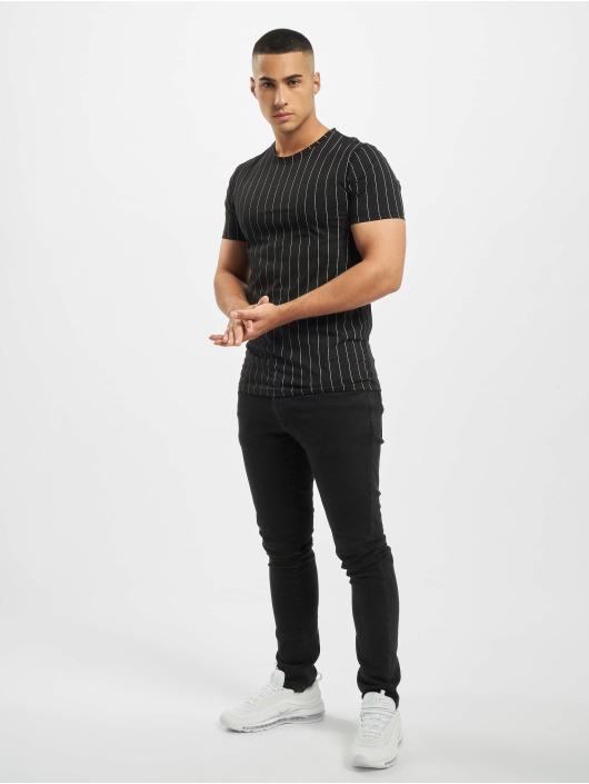 Aarhon T-skjorter Pinstripe svart