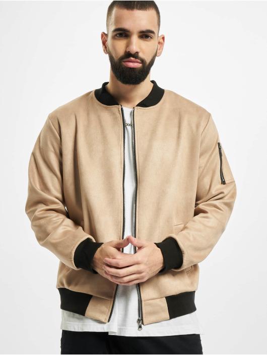Aarhon Veste mi-saison légère Fake Velours Leather beige