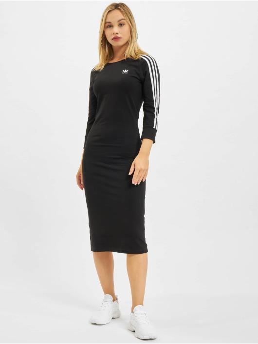 adidas Originals Šaty Originals 3 Stripes čern