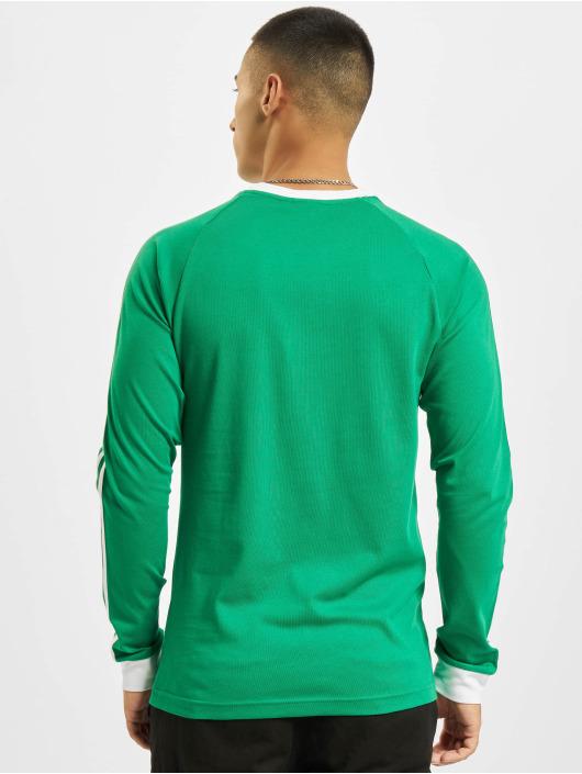 adidas Originals Водолазка 3-Stripes LS T зеленый