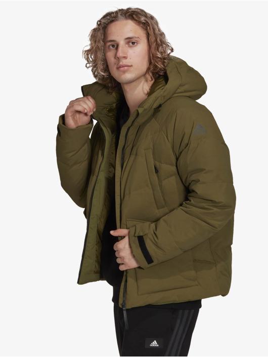 adidas Originals Зимняя куртка Big Baffle зеленый