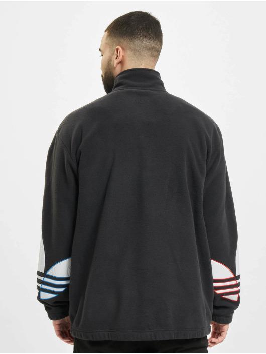 adidas Originals Пуловер Tricolor Half Zip черный