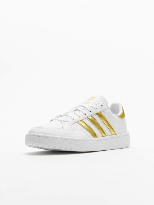 adidas Originals Baskets Team Court blanc