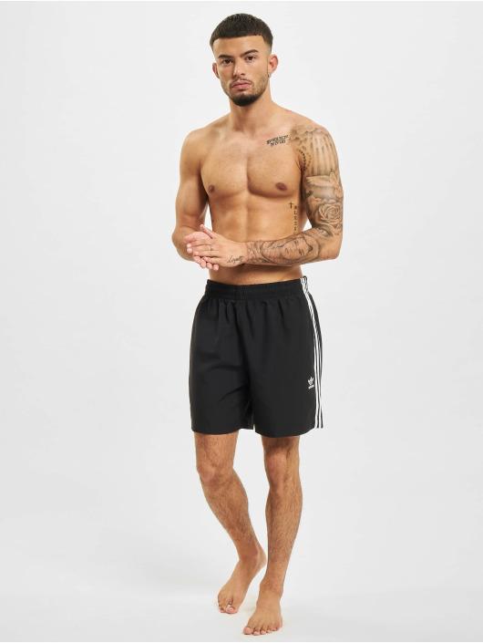 adidas Originals Bermudas de playa 3-Stripes negro
