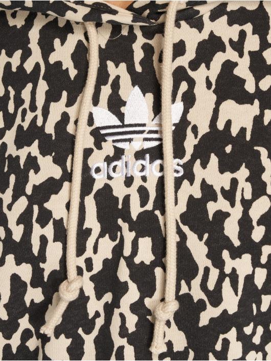 adidas originals Bluzy z kapturem LF bezowy