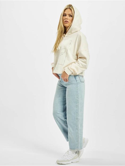 adidas Originals Bluzy z kapturem Crop bialy