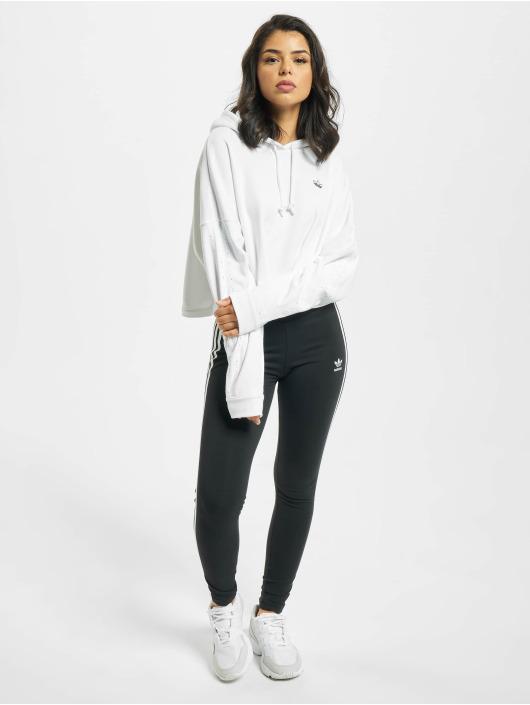adidas Originals Bluzy z kapturem BB CP bialy