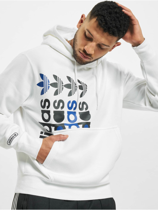 adidas Originals Bluzy z kapturem FRM bialy