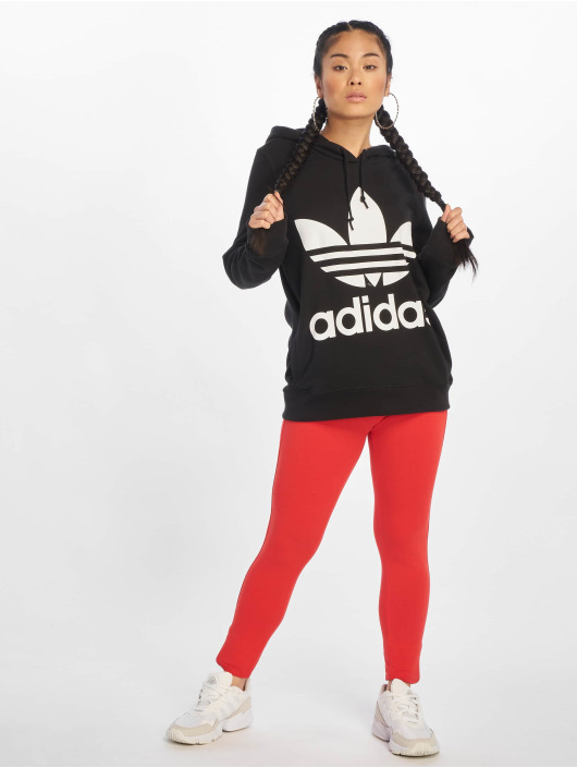adidas Originals Bluzy z kapturem Trefoil czarny