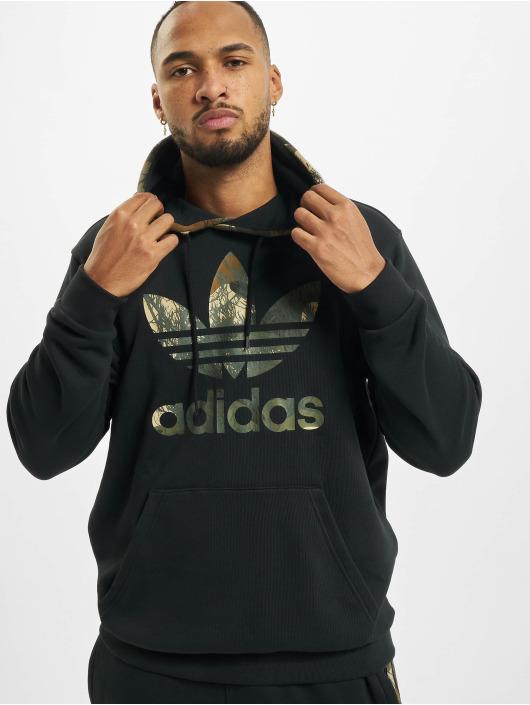adidas Originals Bluzy z kapturem Camo Block czarny