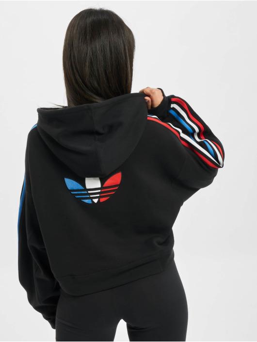 adidas Originals Bluzy z kapturem Tricolor czarny