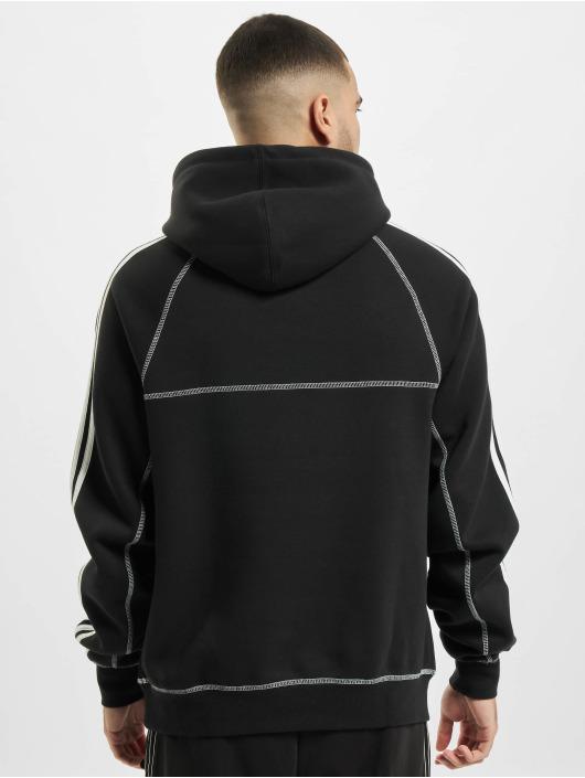 adidas Originals Bluzy z kapturem Contrast Stitch czarny