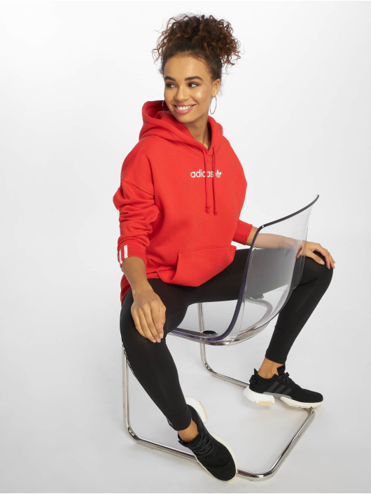 adidas originals Bluzy z kapturem Coeeze czerwony