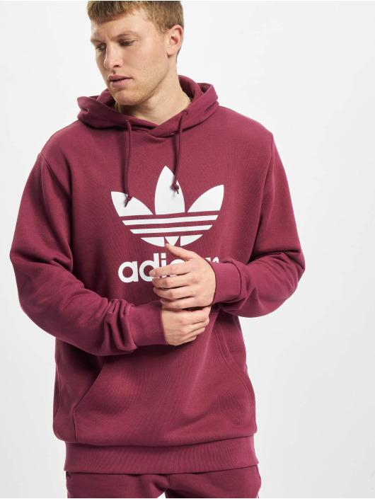 adidas Originals Bluzy z kapturem Trefoil czerwony