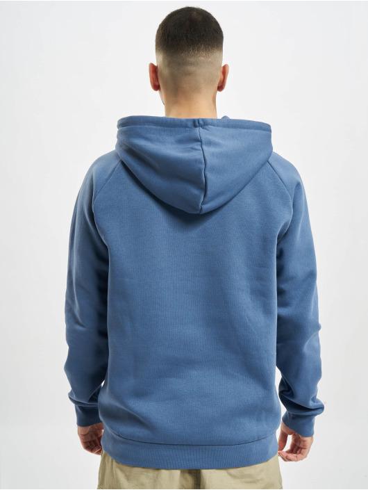 adidas Originals Bluzy z kapturem 3D Trefoil niebieski